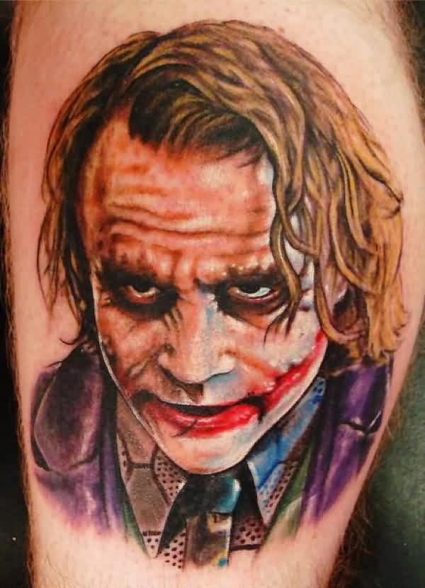 3D Batman Joker Tattoo For Boys