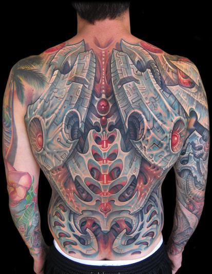 3D Biomechanical Tattooed Back