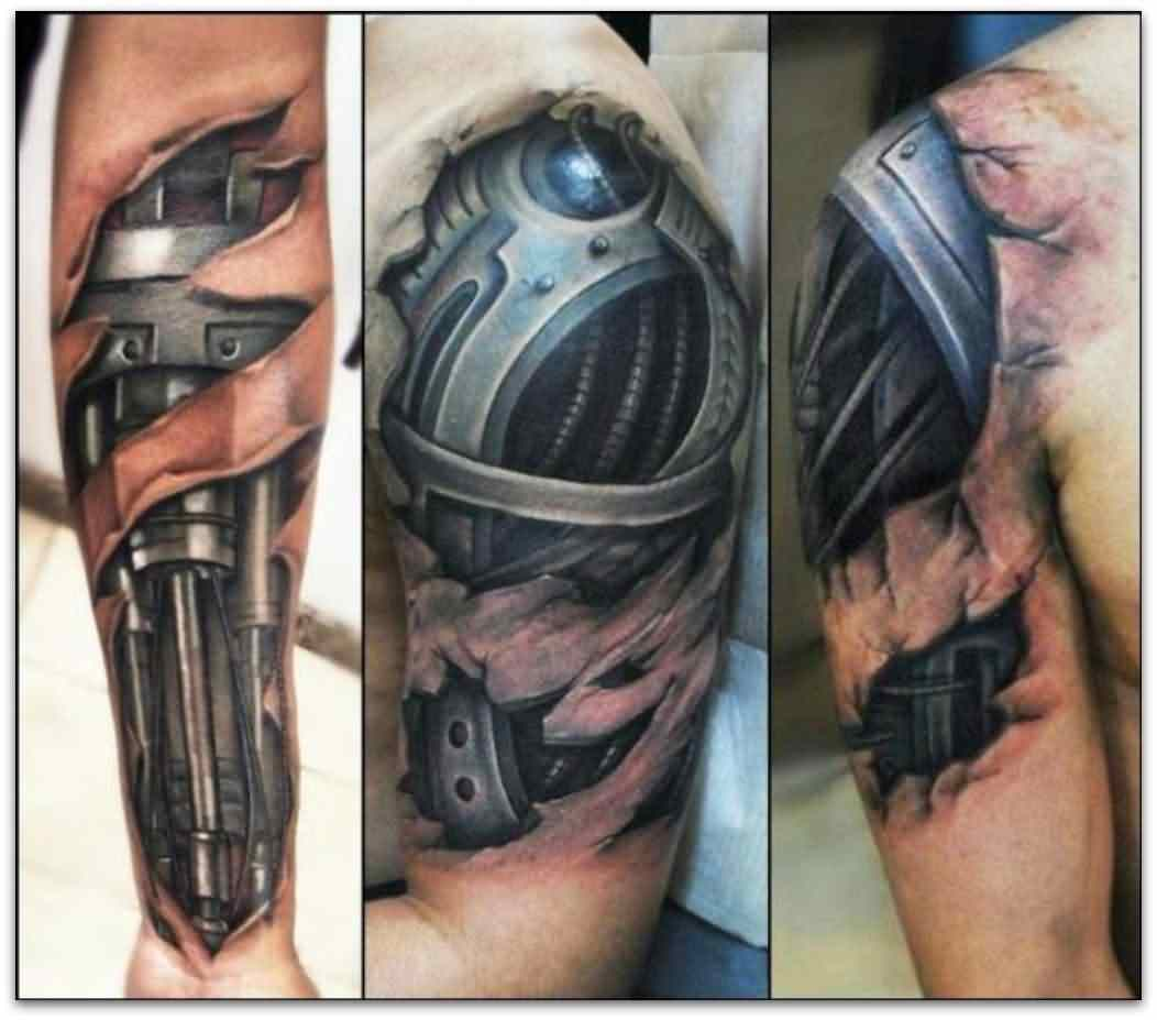 3D Biomechanical Tattoos For Men