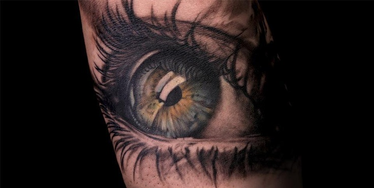 3D Color Open Eye Tattoo