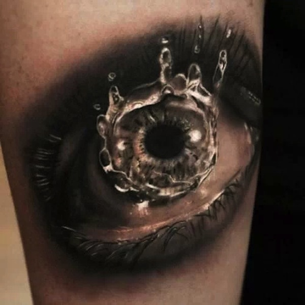 3D Eye Clock Tattoo