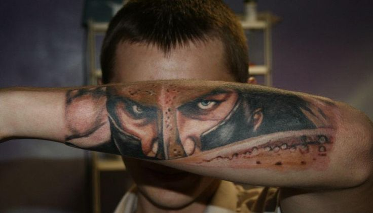 3D Eyes Tattoo On Arm