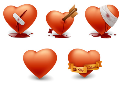 3D Heart Tattoos Pack