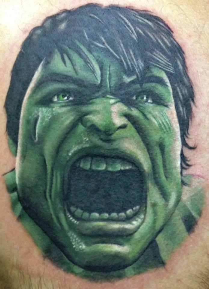 3D Hulk Scream Tattoo