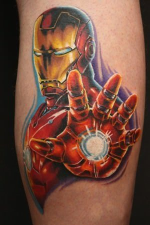 3D Iron Man Tattoo For Boys