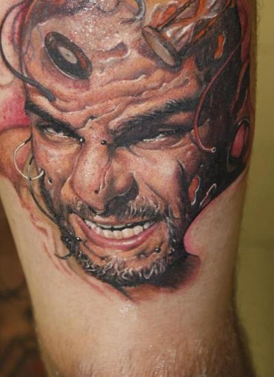 3D Man Portrait Tattoo
