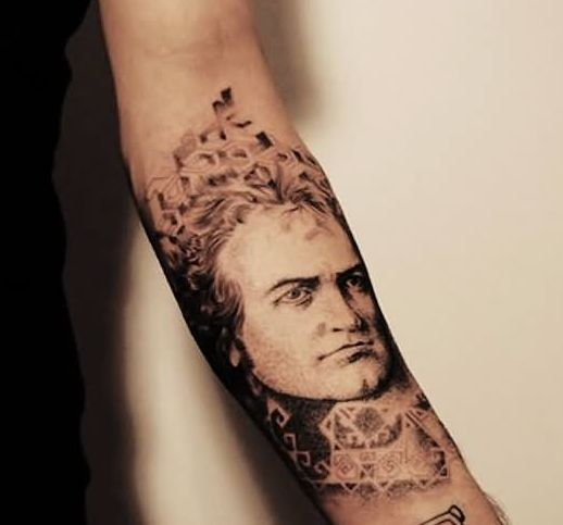 3D People Portrait Tattoo On Forearm