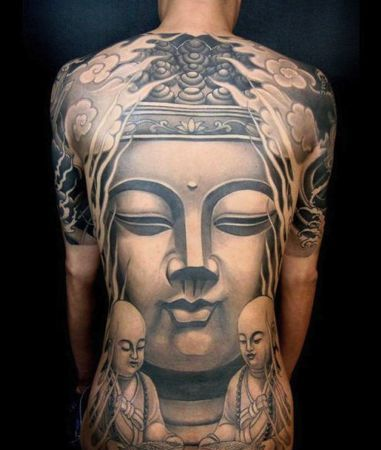 3D Religious Tattoos On Entire Back