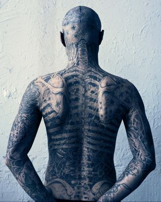 3D Skeleton Tattooed Body