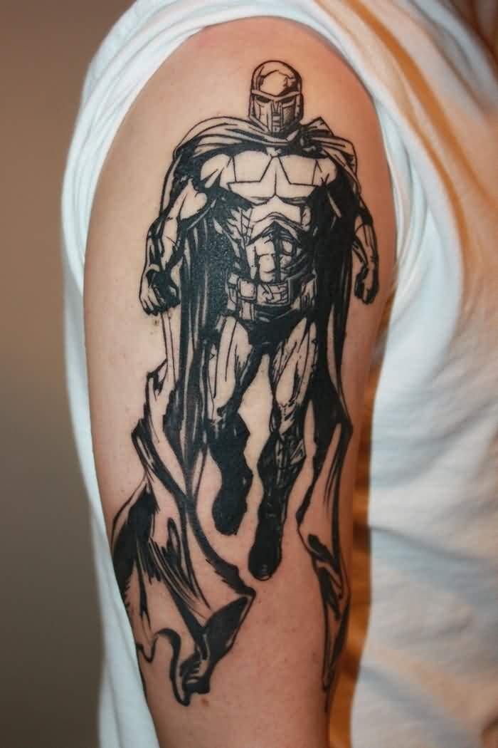 3D Superhero Tattoo On Arm