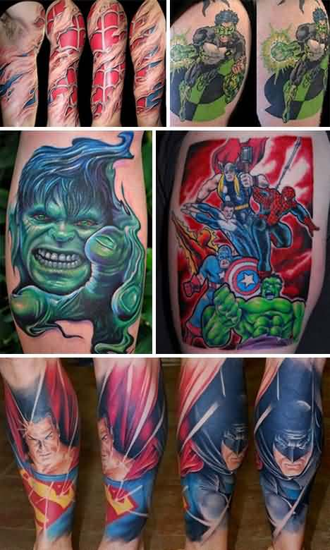 3D Superhero Tattoo Pics