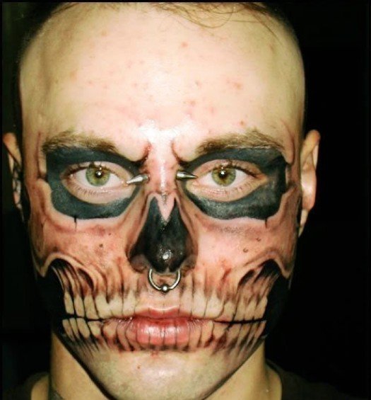 3D Tattooed Face