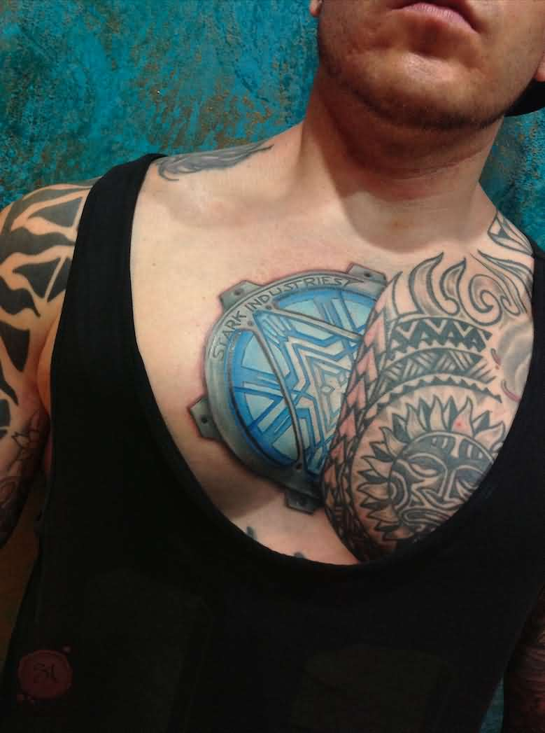 3D Tattoos On Chest For Boys