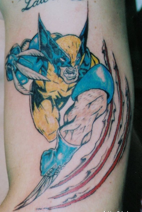 3D Wolverine Tattoo For Boys