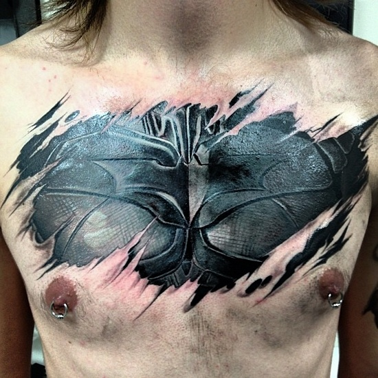 Cool-3D-Batman-Tattoo-photo-1
