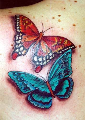 red-and-blue-3d-butterflies-tattoos