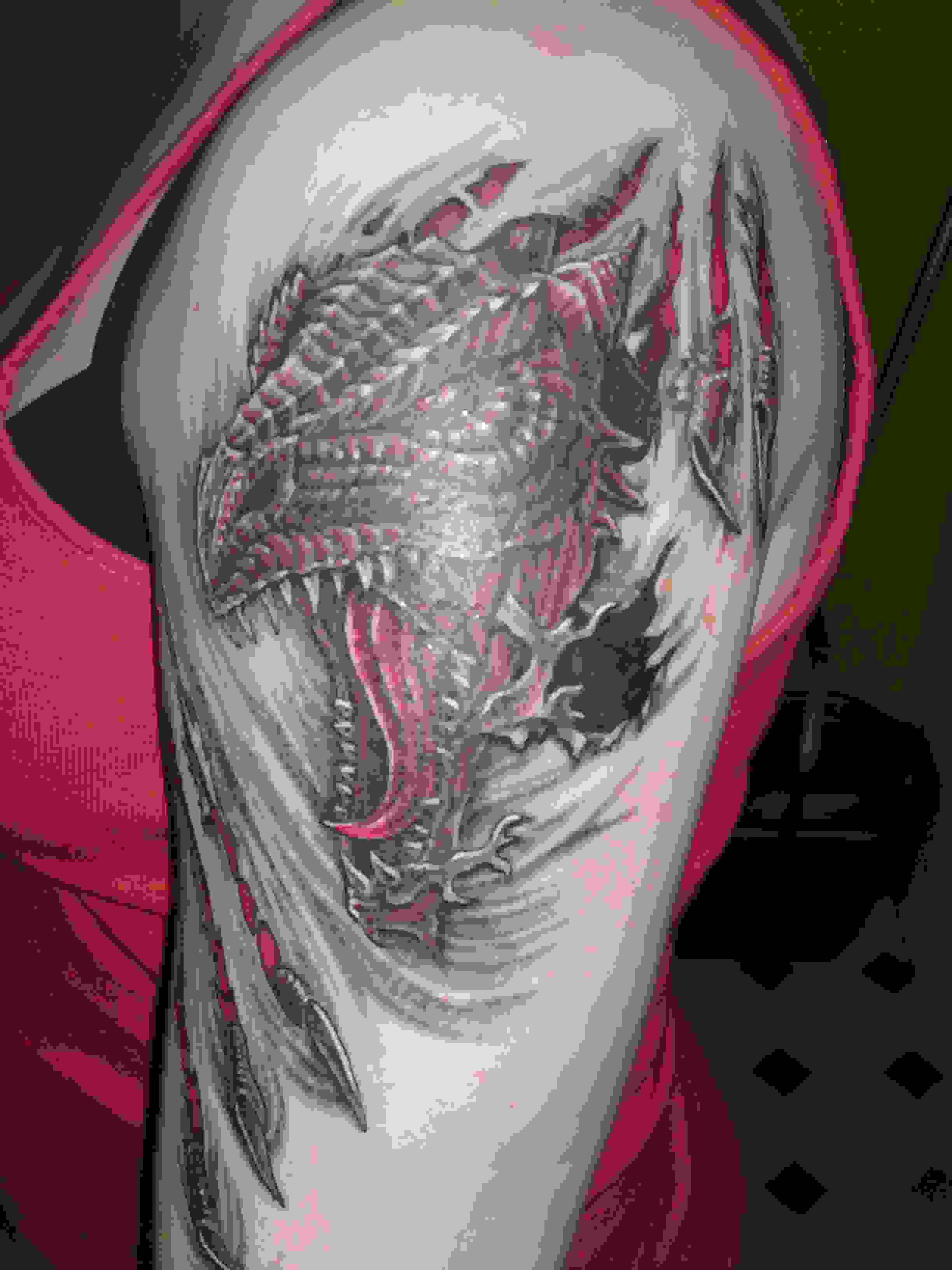 scary-3d-dragon-head-tattoo-on-arm