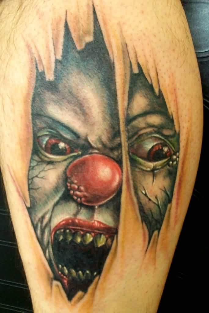 scary-3d-joker-face-skin-rip-tattoo