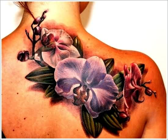 sensational-3d-orchid-tattoos-for-women