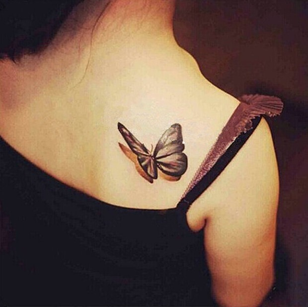small-size-3d-butterfly-tattoo-for-women