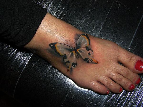 special-3d-butterfly-tattoo-on-foot