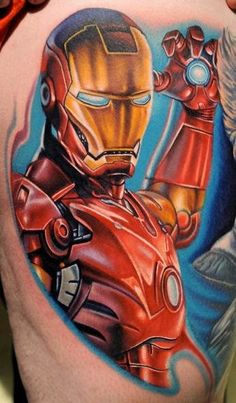 stunning-3d-iron-man-tattoo-on-sleeve