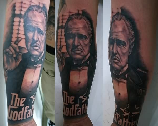 the-godfather-3d-tattoos-on-leg-sleeve