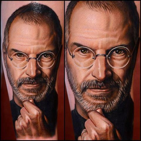 thinking-steve-jobs-face-3d-portrait-tattoos