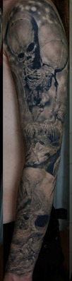 truly-amazing-grey-3d-tattoos-on-right-sleeve
