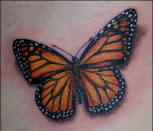 truly-awesome-3d-butterfly-tattoo