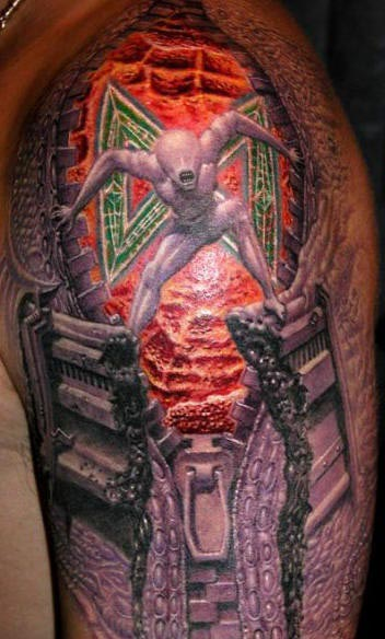 truly-awesome-3d-tattoos-on-sleeve-2