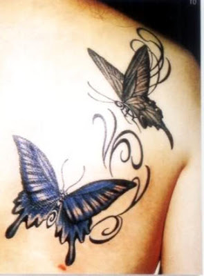 two-lovely-3d-butterfly-tattoos