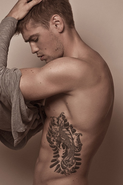Awesome Rib Cage Tattoos For Men