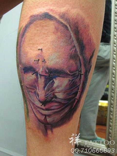 wicked-pinhead-3d-face-portrait-tattoo