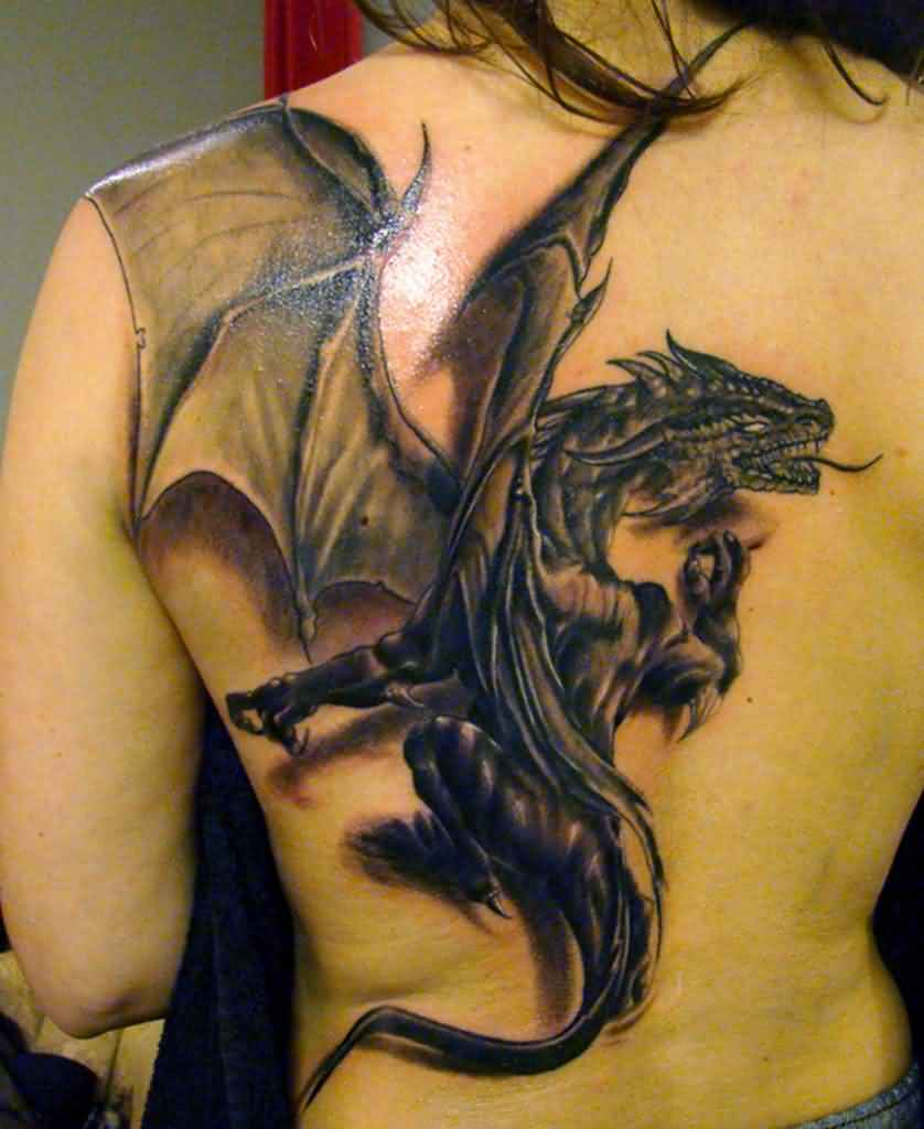 winged-chinese-3d-dragon-tattoo-on-back