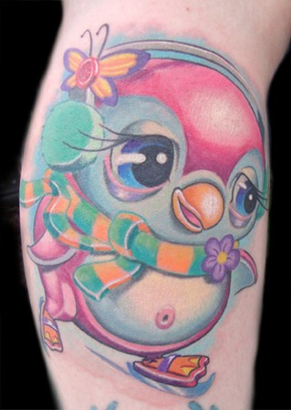 A Very Beautiful Penguin Tattoo