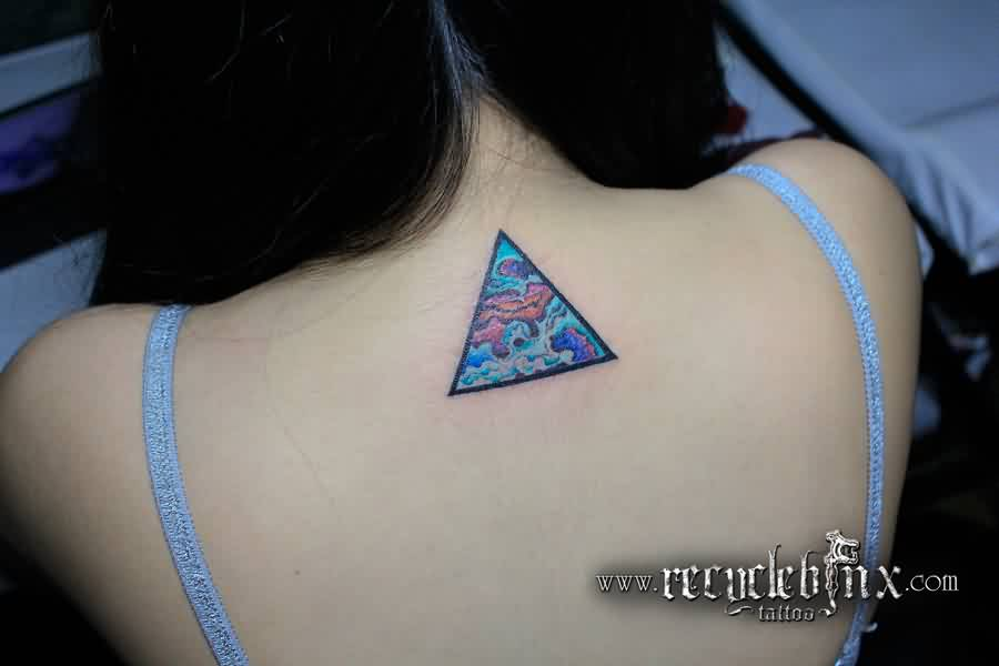 A Very Beautiful Triangle Tattoo For Girls