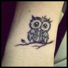 A Very Cute Owl Tattoo
