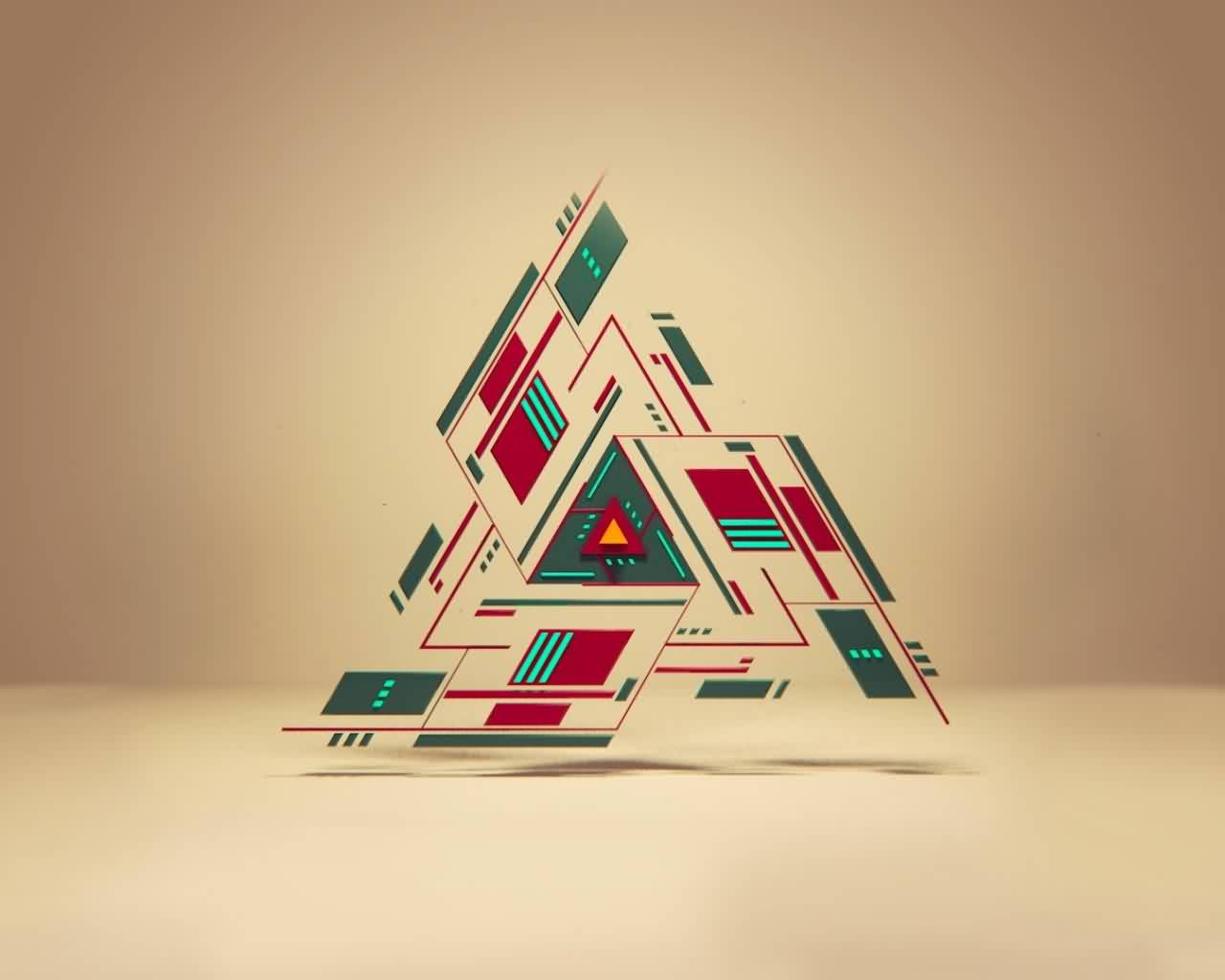 New Abstract Triangle Tattoo Print