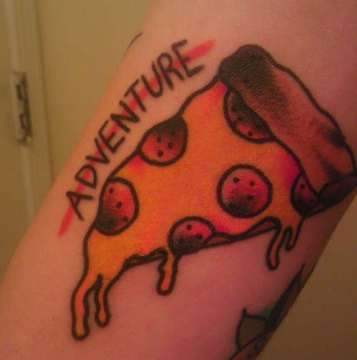 Adventure Pizza Tattoo