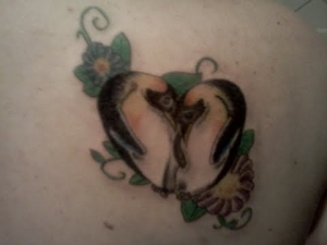 Again Penguin Love Tattoo