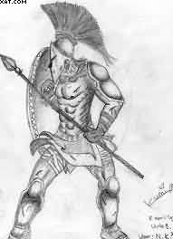 Again Spartan Warrior Tattoo Drawing
