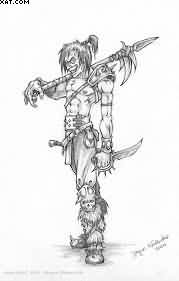 Again Warrior Tattoo Drawing
