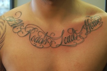 All Roads Lead Home Collarbone Tattoos