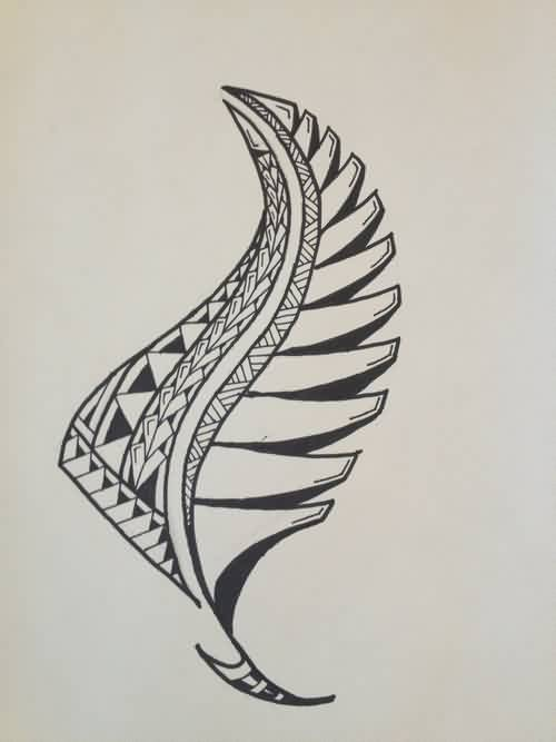 Amazing Black Polynesian Tattoo Print