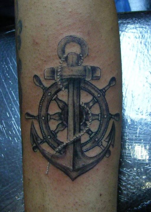 Amazing Grey 3D Nautical Tattoos