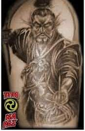 Amazing Samurai Warrior Sleeve Tattoo