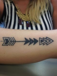 Amazing Triangle Arrow Tattoos On Arm