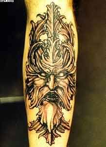 Amazing Warrior King Tattoo On Arm