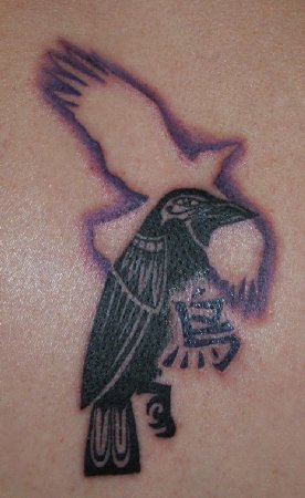 Amity Crow Tattoo